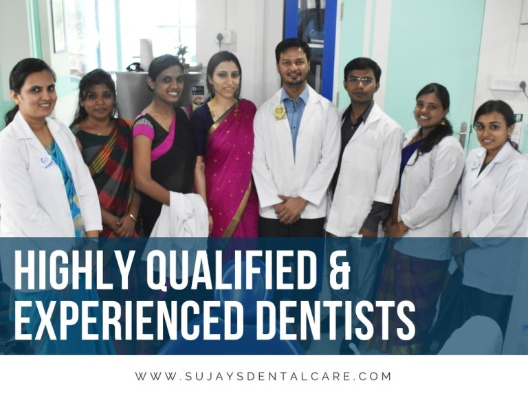 Group photo of team of dentists at Sujay's Dental clinic